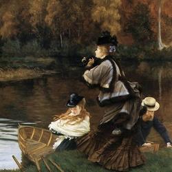 Пазл онлайн: Осень на Темзе