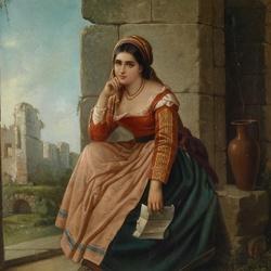 Пазл онлайн: Девушка с письмом