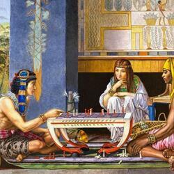Пазл онлайн: Египетские шахматисты