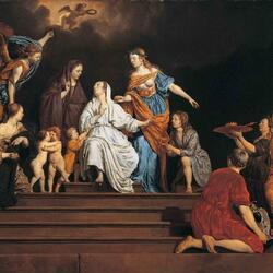 Пазл онлайн: Невинность между Добродетелями и Пороками