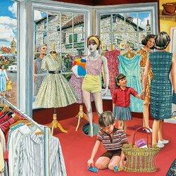 Пазл онлайн: В магазине одежды