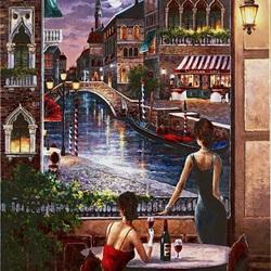 Пазл онлайн: Венецианский вечер