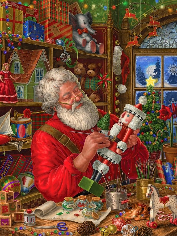 see santa clauss workshop - 750×1000