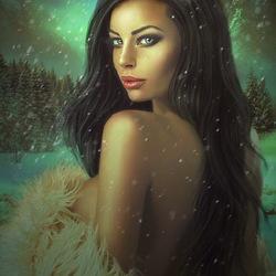 Пазл онлайн: Снежная дева