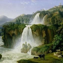 Пазл онлайн: Водопады Тиволи