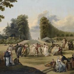 Пазл онлайн: Гулянье в парке