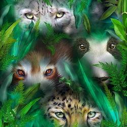 Пазл онлайн: Глаза джунглей