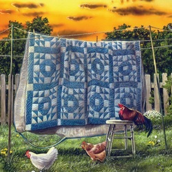 Пазл онлайн: Куриный двор