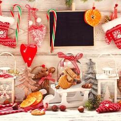 Пазл онлайн: Рождественские мелочи