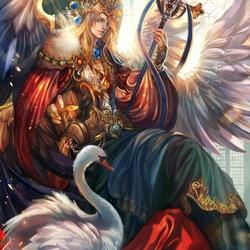 Пазл онлайн: Король лебедей