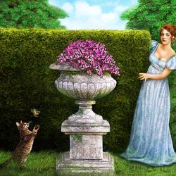 Пазл онлайн: Веселье в саду