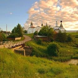 Пазл онлайн: Вид на Ферапонтов монастырь