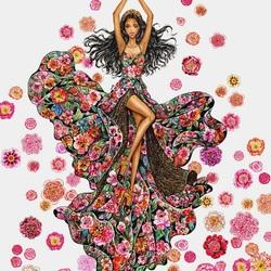 Пазл онлайн: Танец цветов
