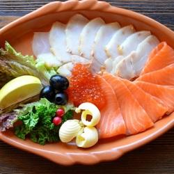Пазл онлайн: Рыбная нарезка