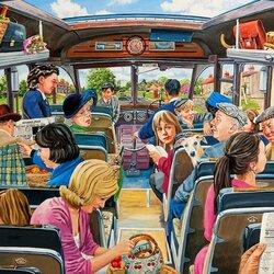 Пазл онлайн: В автобусе