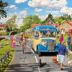 Пазл онлайн: Знакомый в автобусе
