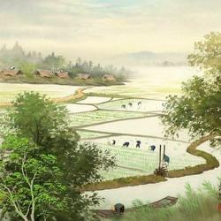 Пазл онлайн: На рисовых полях