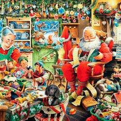 Пазл онлайн: Подарки на Рождество готовы