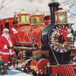 Пазл онлайн: Санта-экспресс