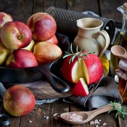 Пазл онлайн: Персики с мёдом