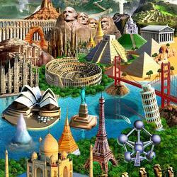 Пазл онлайн: Все чудеса мира