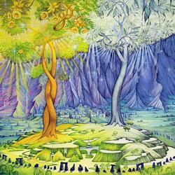 Пазл онлайн: Два дерева
