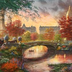 Пазл онлайн: Осень в Центральном парке Нью-Йорка