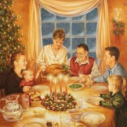 Пазл онлайн: Рождественский ужин