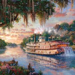 Пазл онлайн: Королева реки