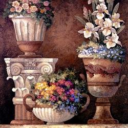 Пазл онлайн: Цветы на террасе