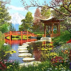 Пазл онлайн: Японский парк