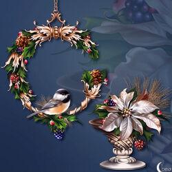 Пазл онлайн: Серебряное Рождество