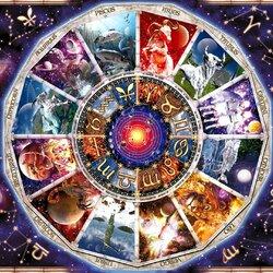Пазл онлайн: Астрологическая карта