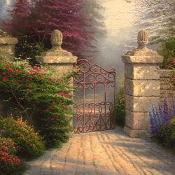 Пазл онлайн: Открытая дверь