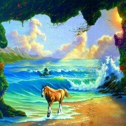 Пазл онлайн: На цветущем острове
