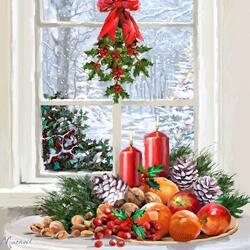 Пазл онлайн: Вот и Рождество