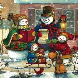 Пазл онлайн: Рождественские колядки
