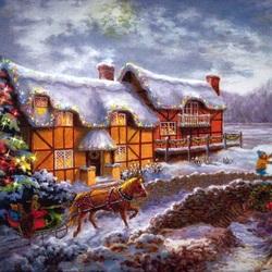 Пазл онлайн: В Рождественский вечер