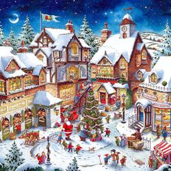 Пазл онлайн: Новогодние праздники
