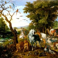 Пазл онлайн: В Ноев ковчег
