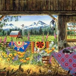 Пазл онлайн: Летом в деревне