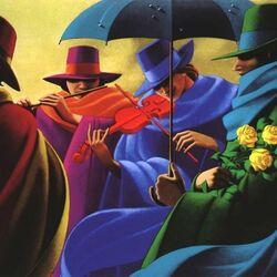 Пазл онлайн: Оркестр под зонтиком