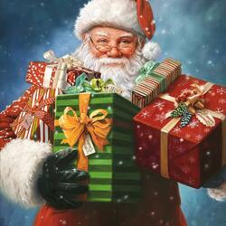 Пазл онлайн: С подарками