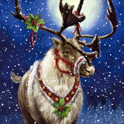 Пазл онлайн: Транспорт для Деда Мороза