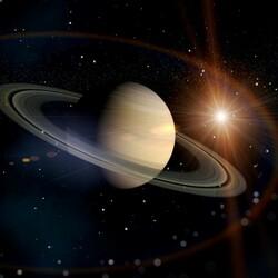 Пазл онлайн: Сатурн
