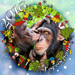 Пазл онлайн: Год обезьяны