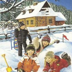 Пазл онлайн: Снежная крепость