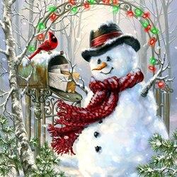 Пазл онлайн: Поздравления с Рождеством
