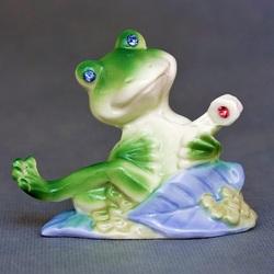 Пазл онлайн: Фарфоровая лягушечка