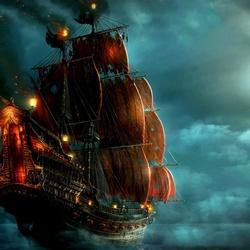Пазл онлайн: Пиратский корабль